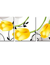 желтый тюльпан вышивки крестом