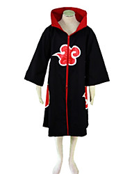 Inspired by Naruto Sasuke Uchiha Anime Cosplay Costumes Cosplay Suits Print Black Cloak