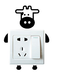 Switch Wall Stickers Wall Decals, Cartoon Calf PVC Switch Sticker
