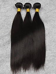 3pcs 16inch brazilian Human Hair Extensions Natural Color Straigin,Free Shipping