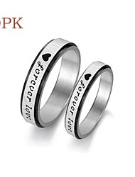 OPK®Couples Only Love Titanium Steel Ring
