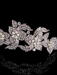 Women/Flower Girl Sterling Silver/Alloy Tiaras/Headbands/Flowers With Wedding/Party Headpiece