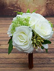 alto grau de 23 centímetros de diâmetro de casamento da noiva buquê de casamento segurando flores, rosa de seda colth simulação