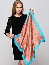Zizhen Women's Casual  Silk Scarf  Square Scarf