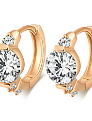 Women's 18K Gold Plating Inlay Zircon Individuality Earrings