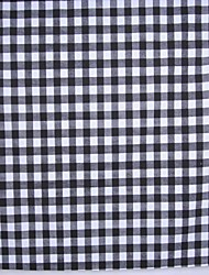 Black And White Plaid Cotton Printing Fabric Cloth ,150cm Wide - Sold By The Meter