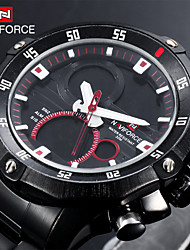 Reloj Militar (LED/Calendario/Cronógrafo/Resistente al agua/Dos Husos Horarios/alarma) - Analógico-Digital - de Cuarzo