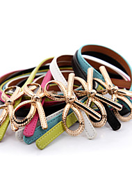Women PU Skinny Belt,Vintage / Cute / Party / Work / Casual Alloy All Seasons
