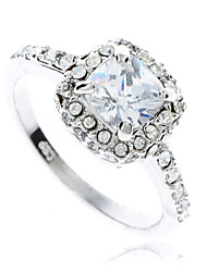 Clear Crystals White Gold Gp Engagement Rings Fashion Jewelry Gift New J0210