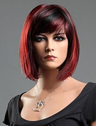 Women Synthetic Red Wig Straight