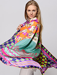Zizhen ocasional tudo lenço jogo de seda das mulheres