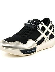 Zapatos de hombre ( Negro/Plateado/Dorado Cuero sintético