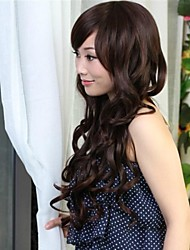 Sweet and Lovely Lady Wig Curly Hair Waves Black Wig Caps