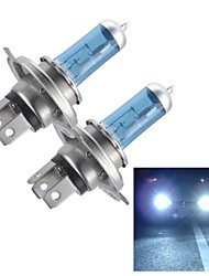 Merdia H4 55W Super White HID Xenon Halogen Bulb Headlight for Cars (DC 12V/ pair)