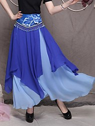 Women's Bohemia Novel Sweet Chiffon Irregular Long Skirt(Beaded Random)