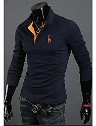 Super Hot Men's Casual Shirt Collar Long Sleeve T-Shirts