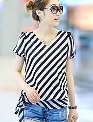 Women's  Fashion Stripes  T-Shirt