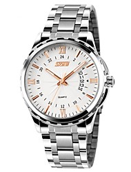 SKMEI® Men's Dress Watch Japanese Quartz Calendar/Water Resistant Stainless Steel Wristwatch Cool Watch Unique Watch