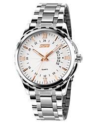 SKMEI® Men's Dress Watch Japanese Quartz Calendar/Water Resistant Stainless Steel Wristwatch Cool Watch Unique Watch