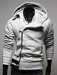 Men's Hoodie Sweats & Hoodies , Cotton / Rayon Long Sleeve Casual / Work Zipper / Fashion Winter / Spring / Fall YESS