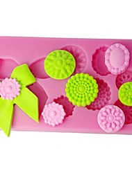FOUR-C Silicone Cupcake Mold Lady Shoes Sugar Craft Mould Color Pink