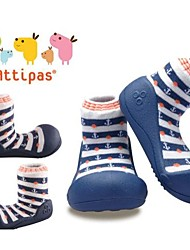 Attipas Super Lightweight Baby Girls Infant Shoes Anti-slide First Walker Pink Stripe Marine Toddler Shoes No-toxic