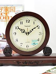 Horloge murale - Rond - Moderne/Contemporain/Rétro - en Verre/Métal/Bois