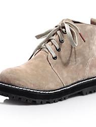 botines zapatos de moda de tacón bajo de las mujeres más colores disponibles