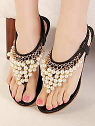 Women's Shoes  Low Heel Slingback Sandals Casual Black/White