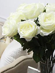 """30 """"l romantischen Rosenseidentuch Blüten weiß"""