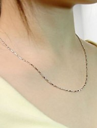 Unisex Vintage Cute Party Work Casual 925 Silver Chain
