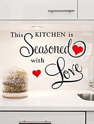 Wall Stickers Wall Decals, This Kitchen is Seasoned with Love  PVC Kitchen Stickers