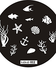 Nail Art Stamp Stamping Image Template Plate hehe Series NO.12