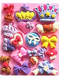 Mini Crown Bow Collection Fondant Cake Molds Chocolate Mould For The Kitchen Baking Cake Tool Decoration