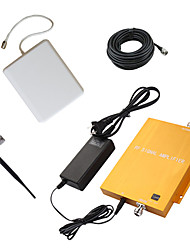 Gold 3G980 2100MHz Mobile Cellphone Signal Booster Repeater Amplifier with Whip and Panel Antenna Kit