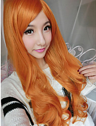 The New Harajuku Wig Ladies' Non-mainstream Golden Brown Curly Hair Wig 70 cm