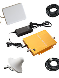 Gold Dual Band GSM/DCS980 Cellphone Signal Booster Repeater Amplifier with Panel and Ceiling Antenna Kit