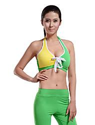amarillo&verde sin mangas y los pantalones de yoga superior