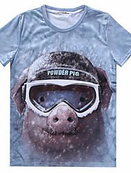 fashion Men's Casual 3D Printing Short Sleeve T-Shirts