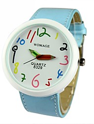 Women and children are applicable Colorful digital big dial Quartz Analog Wrist Watch Cool Watches Unique Watches
