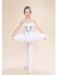 Ballet Dresses Women's / Children's Performance Feathers Feathers /Fur 1 Piece Sleeveless High Skirt