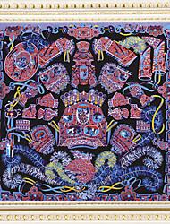 Zizhen Women's Casual Floral Print Silk Scarf