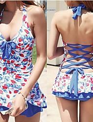 One Piece/Ropa de playa ( Azul ) - Transpirable/Compresión/Materiales Ligeros - para Mujer