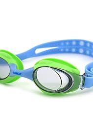 los lactantes y los niños pequeños sable natación espejo natación impermeable Gafas de seguridad 981 azul verde