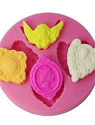 FOUR-C Silicone Fondant Mold Angel Decoration Chocolate Mould Color Pink