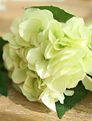 Two Large Light Green Hyfrangeas Artifical Flowers