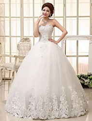 Ball Gown Wedding Dress Floor-length Sweetheart Lace with