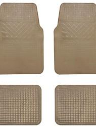 TIROL  Universal  PVC 4 PCS/ Set Floor Mat Rubber Van SUV Car Floor Mat Black/ beige/Gray/ Smoky gray non slip mat