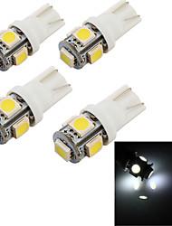 YouOKLight™ 4PCS T10 2W 150lm 5-SMD5050  6000K  White Light LED Car Bulb Light(12V)