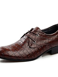 Men's Shoes Outdoor/Office & Career Leatherette Oxfords Black/Brown